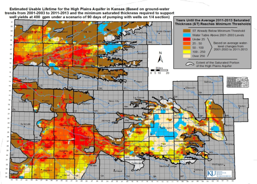 Condition of the aquifer in fifty years